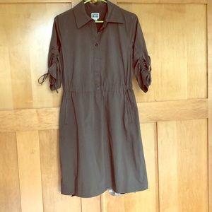 Converse Dark Green Button Down Dress